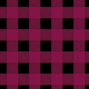 Canada camping theme buffalo plaid check design abstract outdoors design christmas winter maroon girls