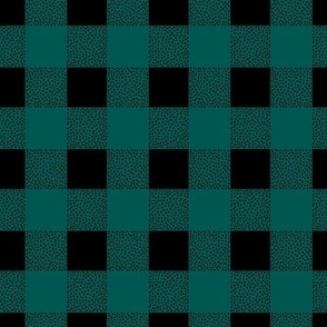 Canada camping theme buffalo plaid check design abstract outdoors design christmas winter teal forest green