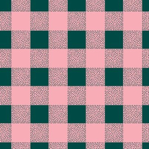 Canada camping theme buffalo plaid check design abstract outdoors design christmas winter green pink