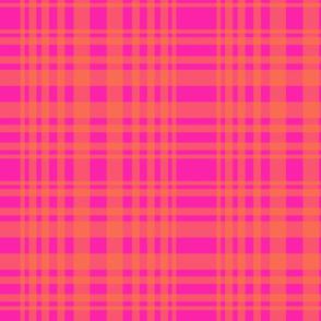 New plaid-hot pink and orange