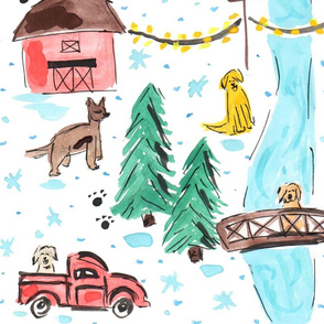 Winter on the Farm - Dogs