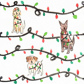 Christmas Light Dogs