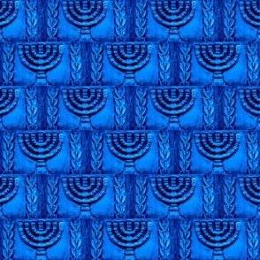 Ancient Menorah -Blue Azure