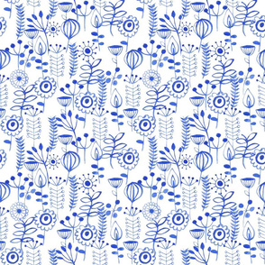 scandi vertical leaves blue