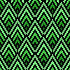 "18"" Art deco diamonds in green Wallpaper"