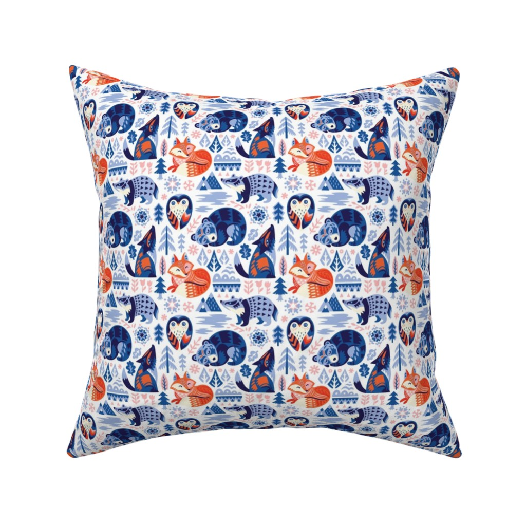 Catalan Throw Pillow featuring Winter dreams by penguinhouse