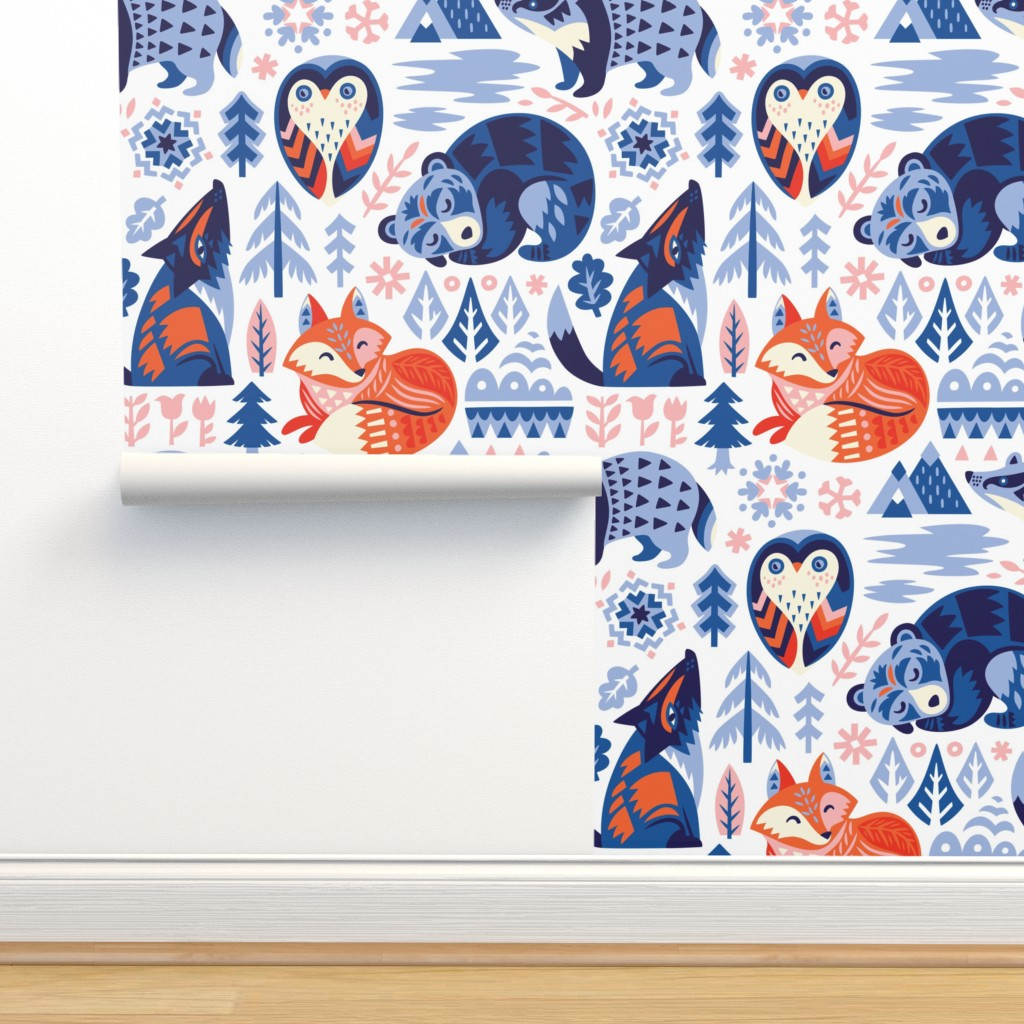 Isobar Durable Wallpaper featuring Winter dreams by penguinhouse