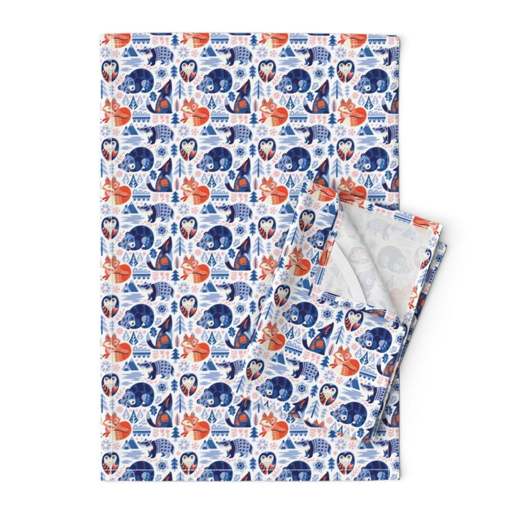 Orpington Tea Towels featuring Winter dreams by penguinhouse