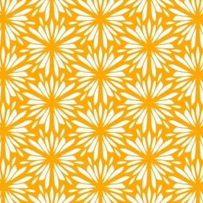 Stencil Floral Gold