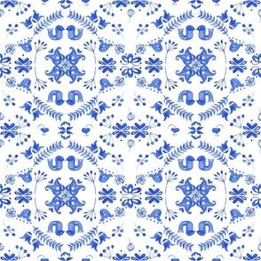 scandi garden blue tile