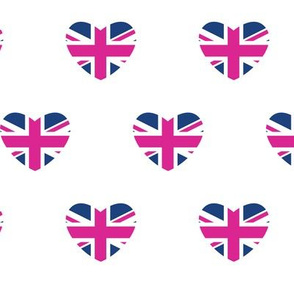 British Hearts - Union Jack Pink & Blue