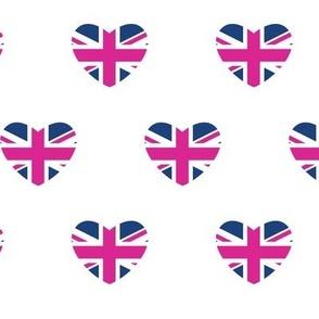 British Hearts - Union Jack Red