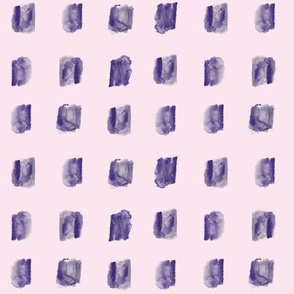 Indigo watercolor square stains on pink