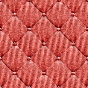 Upholstery fabric with buttons Coral red