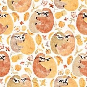 Happy Huggy Fruit Loving Sloths
