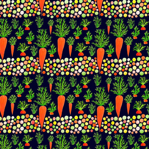Bright pattern with carrots