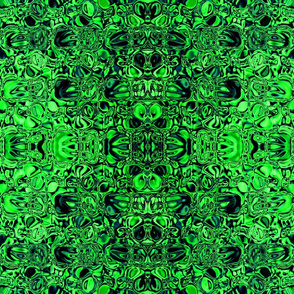 Sparkling green glass mosaic fabric
