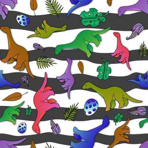 Colourful long neck dinosaur - 1100261
