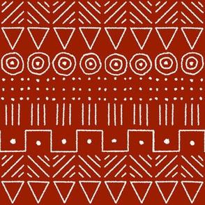 mudcloth 1 red