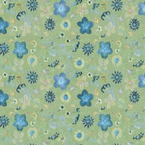 moss and blue garden
