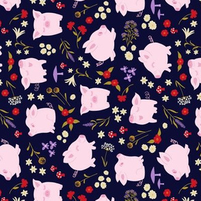 Pigs for special edition tea towel