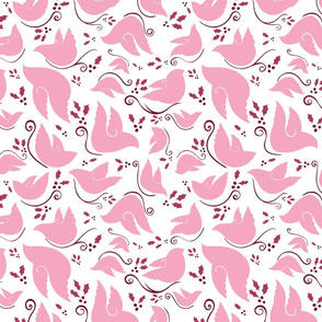 Pink Collection Pink Doves for Christmas