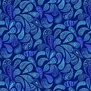 Zen Paisley vivid blue