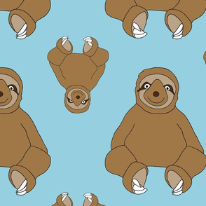 Sweet Sloth - Baby Blue