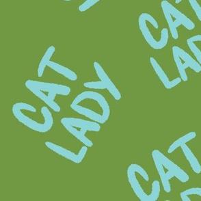 Cat Lady - Blue/Green