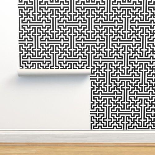 Wallpaper Simple Black White Islamic Pattern