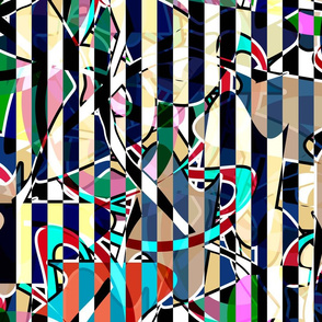 Abstract seamless creative striped lined pattern