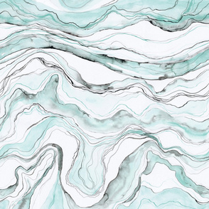 Green watercolor marble, marbled stone