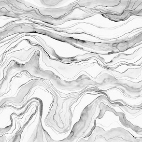 Grey marble, watercolor marbled stone texture