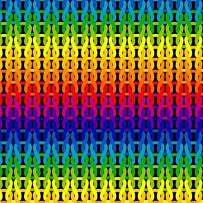 Rainbow knitloops