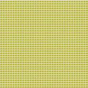 Yellow M on White Background