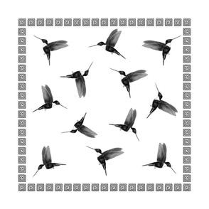 Aztec Hummingbirds - napkins