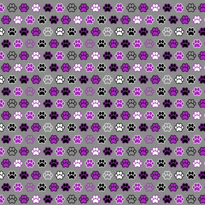 Paws - Purple and Black