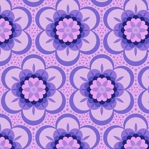 Bold floral - purple