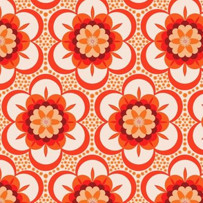Bold  floral - red and orange