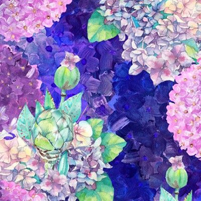 dreamy bouquets hydrangeas purple blue