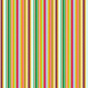 18-03p Rainbow Pinstripe Stripe Green Pink