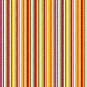 18-03m Pinstripe Orange Yellow Pink Stripe _ Miss Chiff Designs