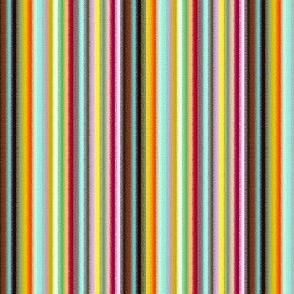 18-03k Rainbow Pinstripe || Orange Aqua Magenta Yellow Rough Edge _ Miss Chiff Designs