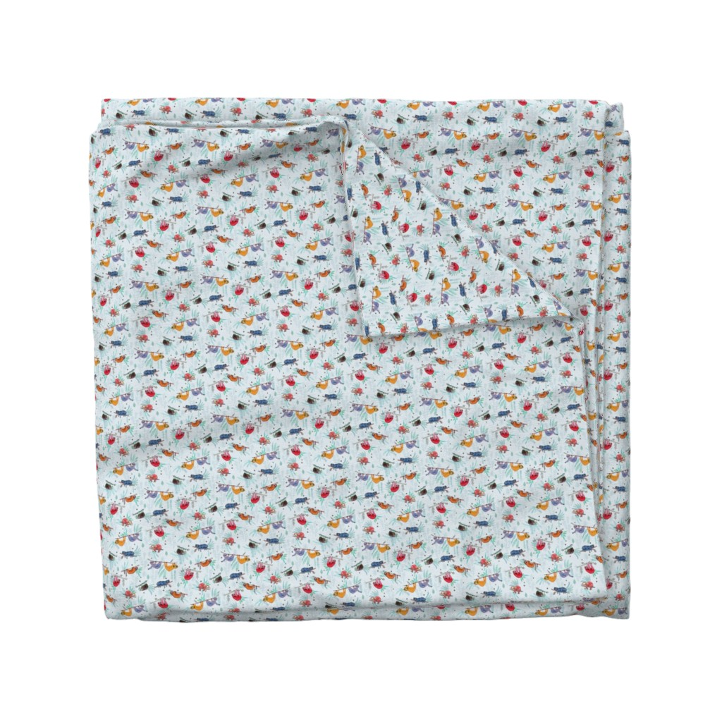 Wyandotte Duvet Cover featuring  Sloth Life by michele_norris