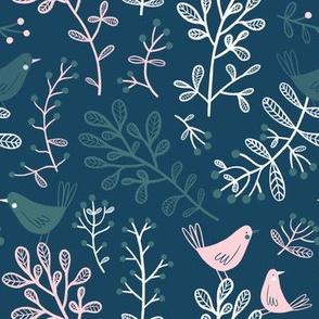 winter birds | dark