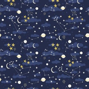 Small cosmos fabric design - space and stars