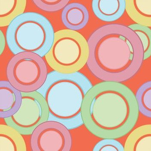 Pastel Rings & Circles (Peach)