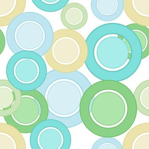 Pastel Circles (Green On White)