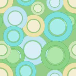 Pastel Circles (Green on Green)