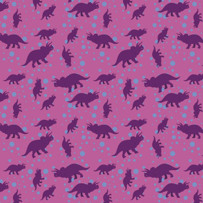 Triceratops Bubbles in Pink